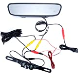 LED waterproof backup rear review camera & 4.3inch TFT LCD rear view Parking Monitor Assembly