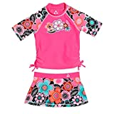 Product review for Gerry Girls' 50+ UPF Sun Protection Rash Guard and Skort Swim Set