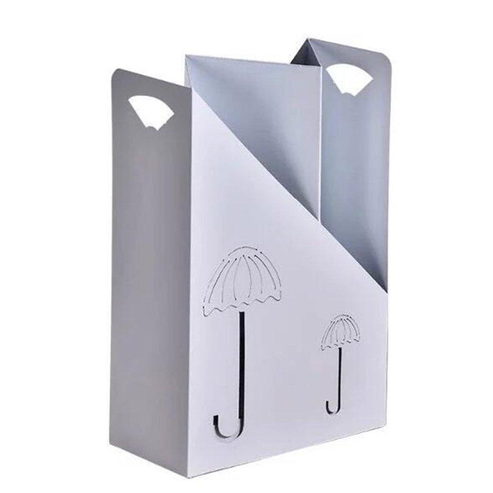 XIAOLIN シンプルな傘スタンドホーム使用傘スタンドホテルロビー傘バケツディスプレイ傘スタンド収納傘スタンド2色 ( 色 : 白 ) B07CRD9C77 白 白