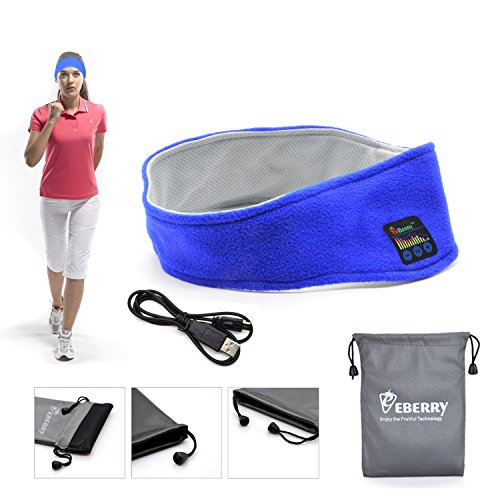 eBerry Ultra Thin 4mm Bluetooth Sports Headband Earphones Sweat Absorption