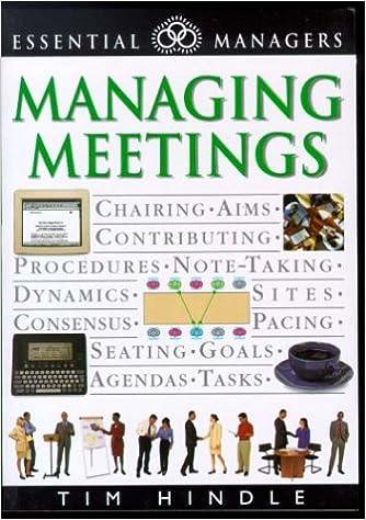 Managing Meetings: Tim Hindle: 9781551681825: Amazon.com: Books