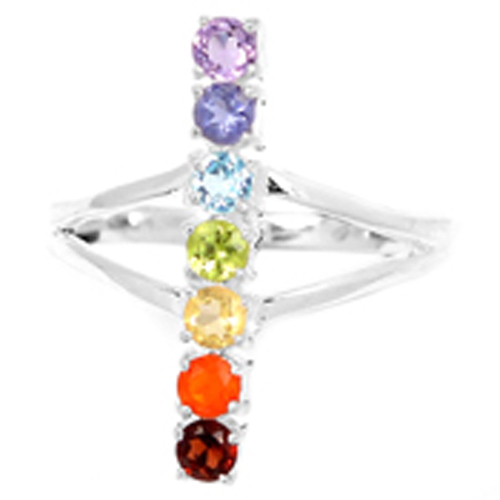 Healing Chakra 925 Sterling Silver Ring Jewelry N-CP134