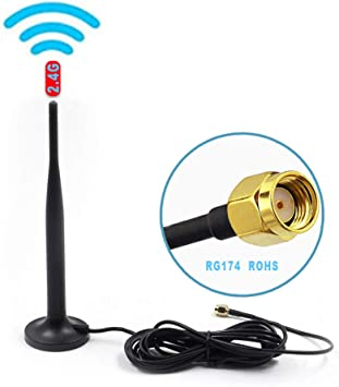 New 2.4GHz 5dBi Omni WIFI Antenna RP-SMA male plug for wireless router 210mm