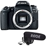 Canon EOS 77D DSLR Camera (Body Only) Lens with Rode VideoMic Pro with Rycote Lyre Shockmount