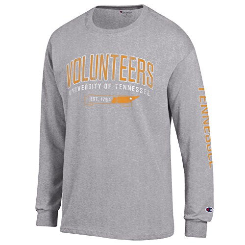 (NCAA Champion Men's Fair Catch Long Sleeve T-Shirt, Tennessee Volunteers, Small)