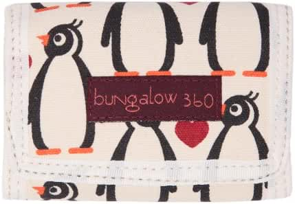 Bungalow 360 Tri-Fold Wallet w/ Velcro Closure-Cotton Canvas-Penguin