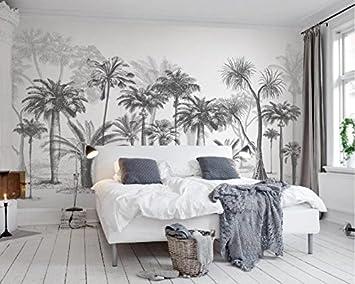 Superieur WH PORP 3D Papier Peint Fait Sur Commande Mural Croquis Noir Et Blanc  Tropical Rainforest