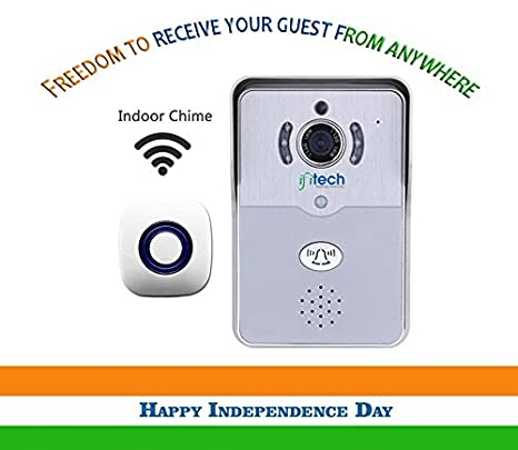 IFITech WiFi Enabled Video Door Bell & Chime with Mobile App - V3 Door Chimes & Bells at amazon