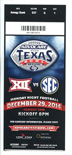 2014 Texas Bowl Ticket Texas Longhorns v Arkansas Razorbacks 12/29 41942
