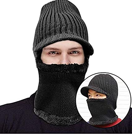 9820b40af4 Komene Kint Winter Hats, 3-in-1 Cold Weather Beanie with Flexible Neck  Guard,Riding Hat for Outdoor Sports Cycling Motorcycle Ski