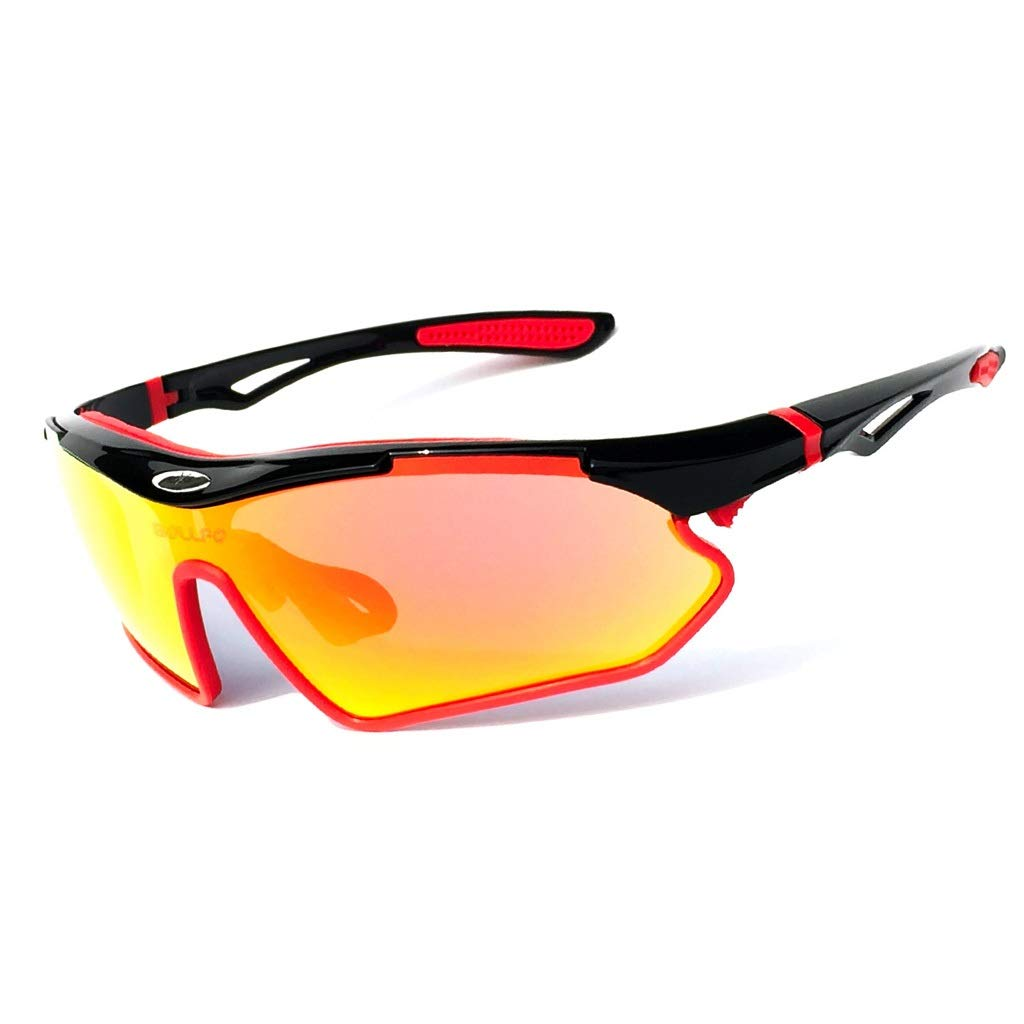 Cycling Glasses Bicycle Mountain Bike Goggles Sports Sunglasses Men's and Women's Bicycles Running Rock Climbing Bicycle Riding Glasses Fishing Glasses (Color : RED) ZHAO YING