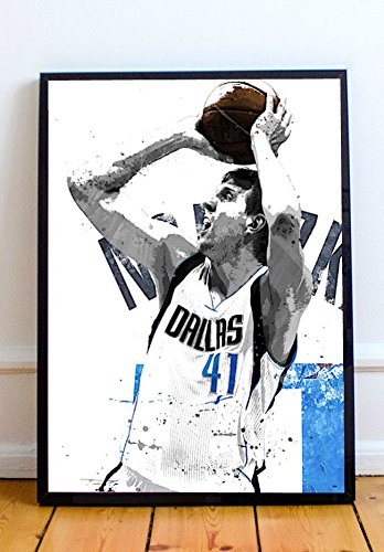 (Dirk Nowitzki Limited Poster Artwork - Professional Wall Art Merchandise (More Sizes Available) (8x10))