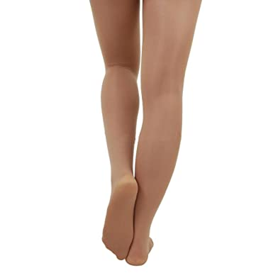f6d73028bbf99 Adult and Child Silky Footed Nylon Shimmer Tights (SSA) - Toast - Small  (adult): Amazon.co.uk: Clothing