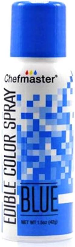 Chefmaster Blue Edible Spray Paint 1.5 Ounces