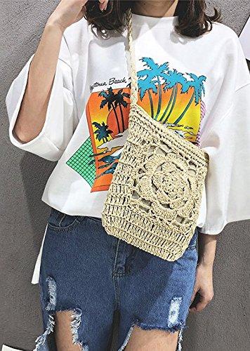 wild White new Handbags weaving new bag straw Handbags retro fashion UqTcBFxT