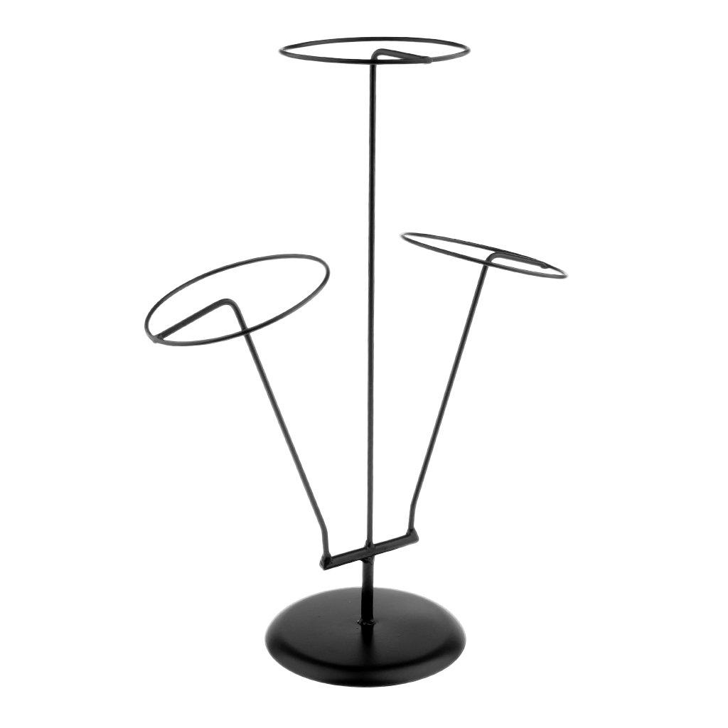 Baoblaze Support Stand Métallique à Chapeaux, Perruque - Présentoir Stand de Perruques/Chapeaux