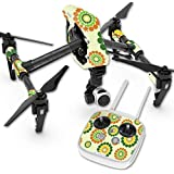 Skin For DJI Inspire 1 Quadcopter Drone – Hippie Flowers   MightySkins Protective, Durable, and Unique Vinyl Decal wrap cover   Easy To Apply, Remove, and Change Styles   Made in the USA