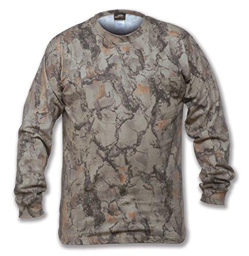 Natural Gear Long Sleeve Camo T-Shirt, Tagless and Preshrunk Lightweight Shirt for Women and Men (X-Large)