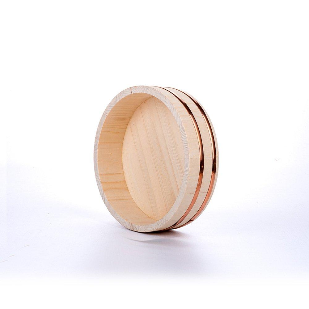 HUANGYIFU Sushi Hangiri Rice Mixing Bowl Traditional Wooden Tub