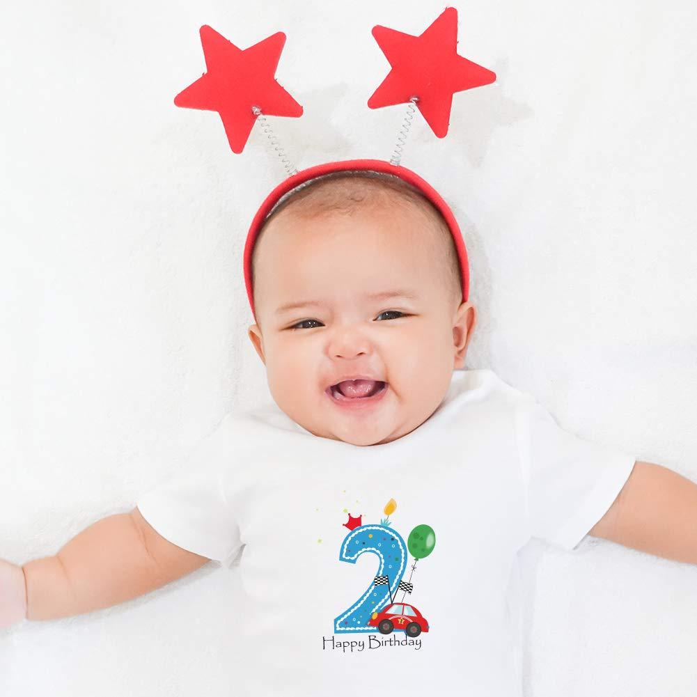 FANXI Car 2nd Birthday Shirt Two Year Old Toddler//Infant T-Shirt 2nd Birthday Shirt Boy 2nd Birthday Boy Gifts