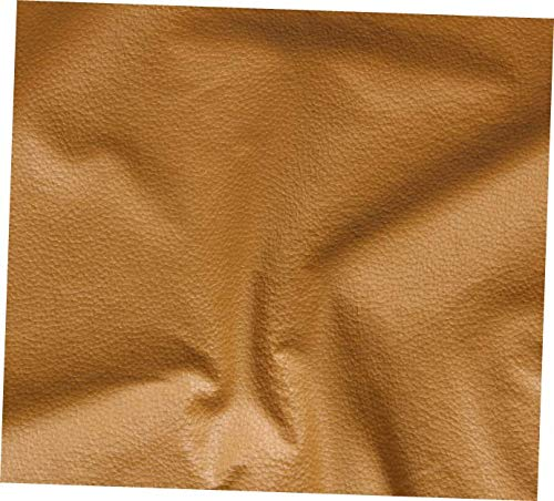 CEDRIC Tan Desert Vinyl Fabric Faux Leather Fabric Pleather Upholstery Fabric- EB193 (by The Yard - Rolled) ()