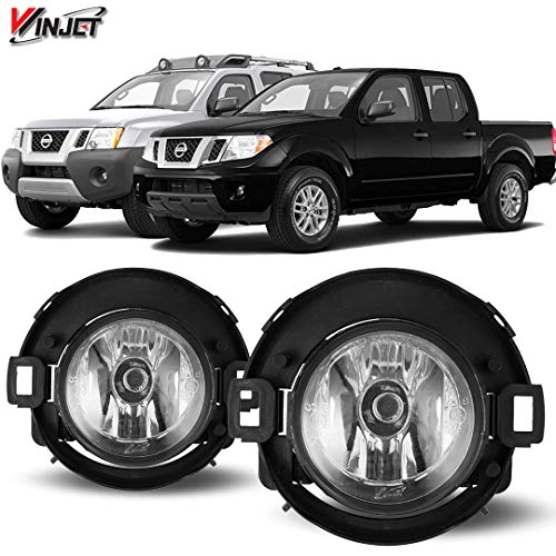 Winjet WJ30-0449-09 OEM Series for Nissan [2005-2014 Xterra] [2010-2017 Frontier] Clear Lens Driving Fog Lights + Switch + Wiring Kit