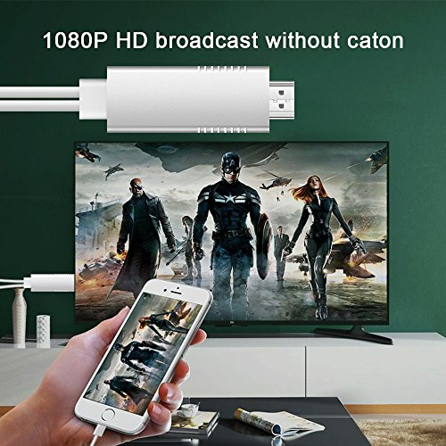 MHL to HDMI Video Cable Adapter, Weton HD 1080P Video Digital AV Cable AirPlay HDTV Adapter MHL USB Cable Compatible for All Smart Phones to TV/Projector/Monitor by Weton (Image #4)