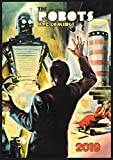 "Wall Calendar 2019 [12 pages 8""x11""] Sci Fi Robots Space Vintage Trash Movie Posters"