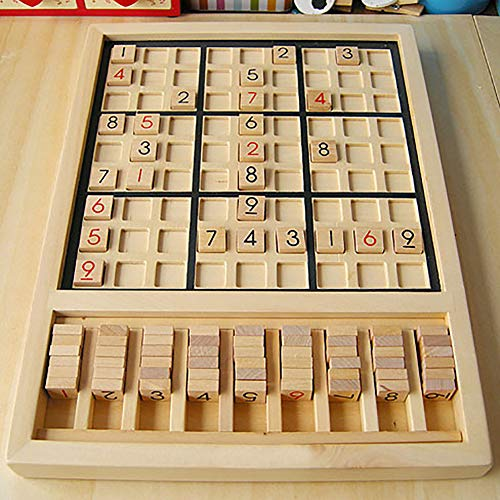 eroute66 Wooden Sudoku Chess Digits 1 to 9 Desktop Games Adult Kids Puzzle Education Toys by eroute66 (Image #2)