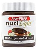 Nutilight Hazelnut Spread and Dark Chocolate, 11 Ounce (Pack of 6)