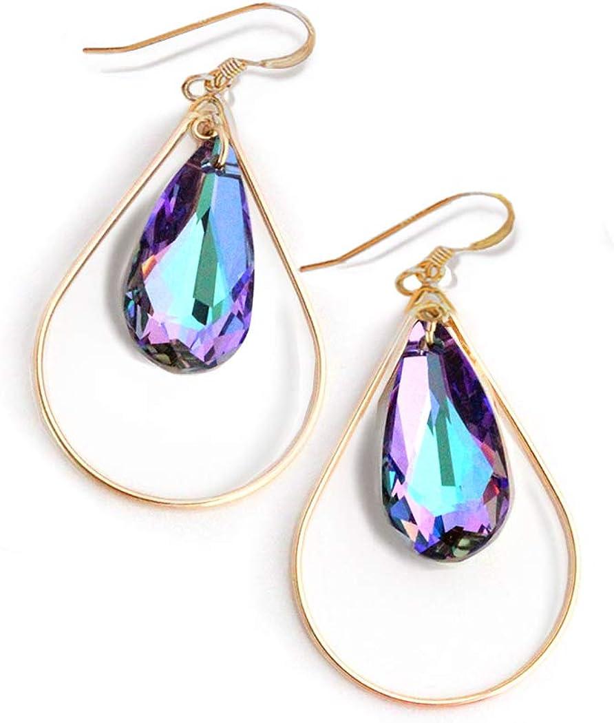 Varios Colores Araña de Cristal de aspecto dulce Aretes