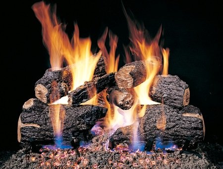 Peterson Gas Logs CHD24-2 24in. Charred Oak 7 log set for See Thru Fireplaces