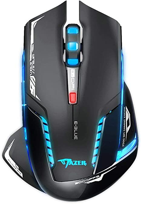 Programmable Gaming Mouse 10 Programmable Keys for Games and Office,Black 16 Adjustable DPI Wired Mouse RGB Cool Lighting