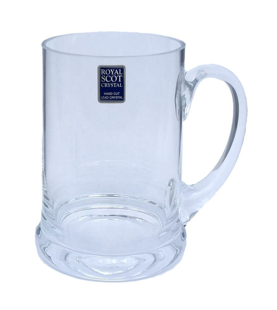 Royal Scot Crystal 1 Pint Beer Mug Tankard in Gift Box