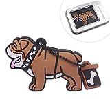speaker bulldog - Lovely Cartoon Bulldog 8GB USB Flash Drive Memory Stick Pendrive & Metal Box Packaging Novelty Creative Gift / Present