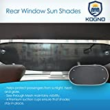 Kogno Premium Rear Window Sun Shade Sun Protection, Glare Reduction Suction Cups Stay on Twice as Thick as Other Back Car Sun Shades