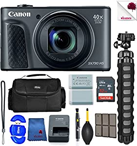 Canon PowerShot SX730 HS Digital Camera Black (1791C001) USA - Full Accessory Basic Bundle Package Deal