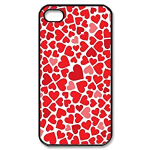 J-LV-F Customized Print Love Pink Pattern Back Case for iPhone 4/4S