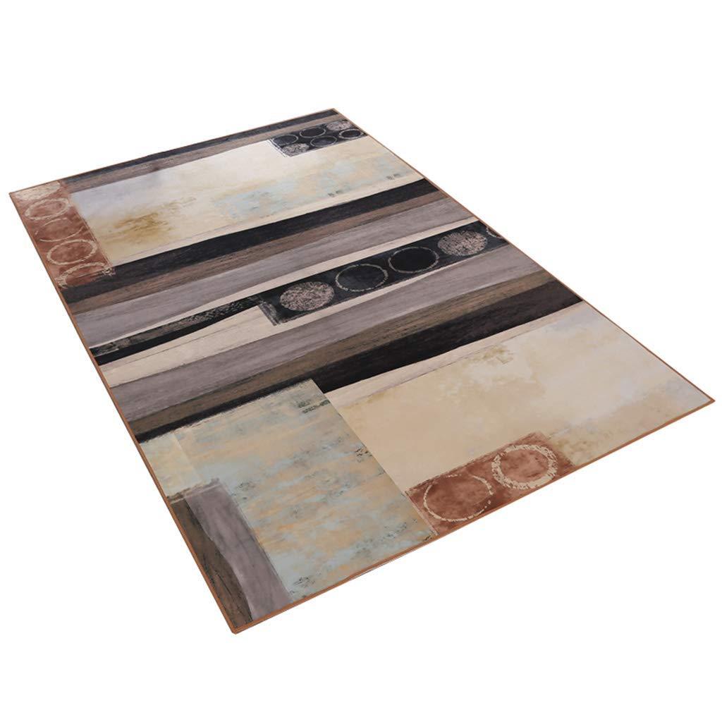 現代の敷物、リビングルームの寝室のオフィスのコーヒーテーブルのコンピュータチェアベッドのカーペットのタイルのためのデザイナーカーペット北欧レトロスタイル、(サイズ:120×180 cm) AI LI WEI (サイズ さいず : 180×280cm) B07RF6QPP5  180×280cm