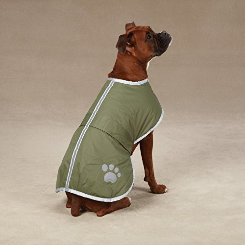 "Zack & Zoey Nor'easter Blanket Coat for Dogs, 20"" Large"