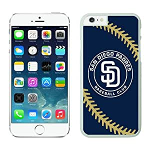 DIY Custom iPhone 6 Phone Case San Diego Padres TPU Rubber Phone Case For Apple iPhone 6 4.7 Inch Case 1 White