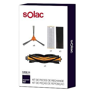 Solac AA3402 - Set de repuestos para Robot Aspirador Lucid i10 con 4 cepillos Laterales,