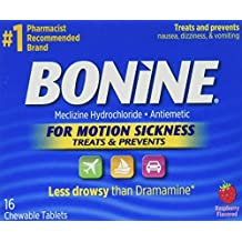 Bonine Motion Sickness Tablets-Raspberry-16 ct.