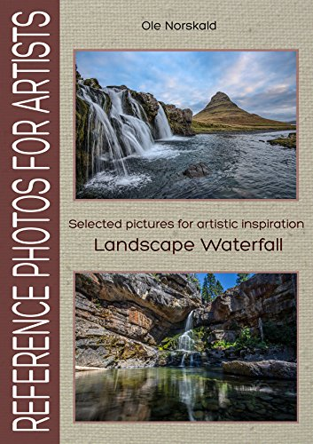 Artists: Selected pictures for artistic inspiration: Landscape Waterfall (Fall Watercolor)