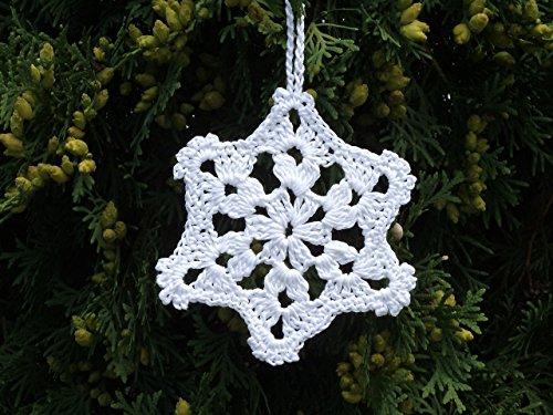 Crochet snowflakes Christmas ornaments White crocheted snowflake Christmas home decor