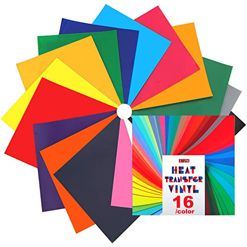 Heat Transfer Vinyl for T-Shirts - 16 Sheets | 12