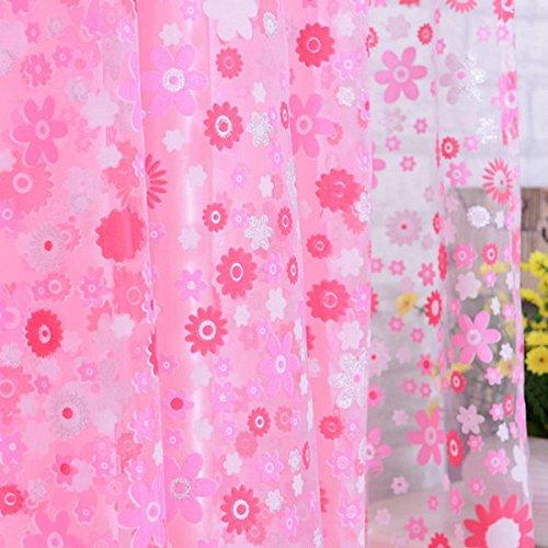 *1 m 2 m, florales Muster, Offset-Raffrollos-Fenster-Ready Made Vorhangs Homeware & Möbel rose