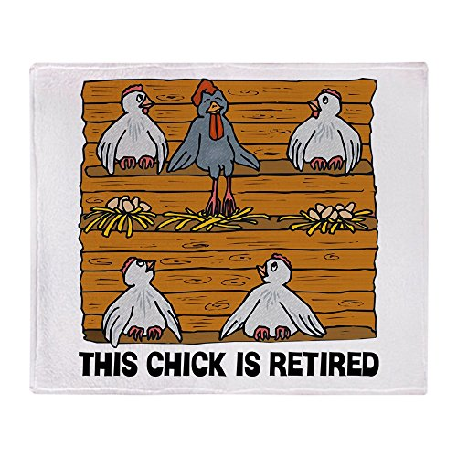 CafePress Retired Chick Soft Fleece Throw Blanket, 50