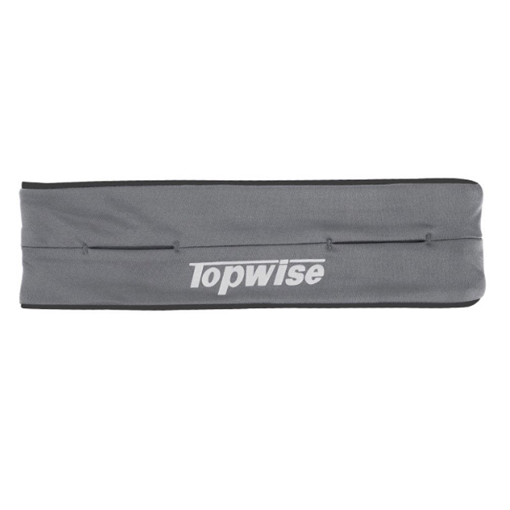 Ouken Cintura packs Running cinturón reflexivo bolsas de cintura para tarjetas de dinero de teléfono claves en correr gimnasio maratón ciclismo, M-XL, 3 colores negro azul gris