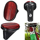 Cheap Mimgo Store Red Bicycle Bike Rear Fender Safety Warnning Reflector Tail MudGuard Cycling